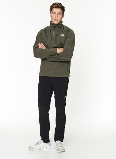 The North Face Can Soft Shell Full Zip Erkek Sweatshirt Yeşil Yeşil